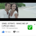 Wake me up - PESTE 3 000 000 VIZUALIZARI PE YOUTUBE!